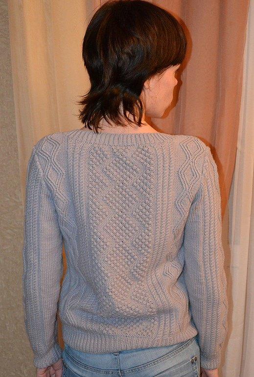 Вязаный Пуловер Ромбами Доставка