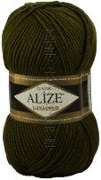 Пряжа LANAGOLD Alize - (214 - Оливковый зеленый)