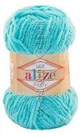 Пряжа Softy Alize - (128 - Светлая бирюза)