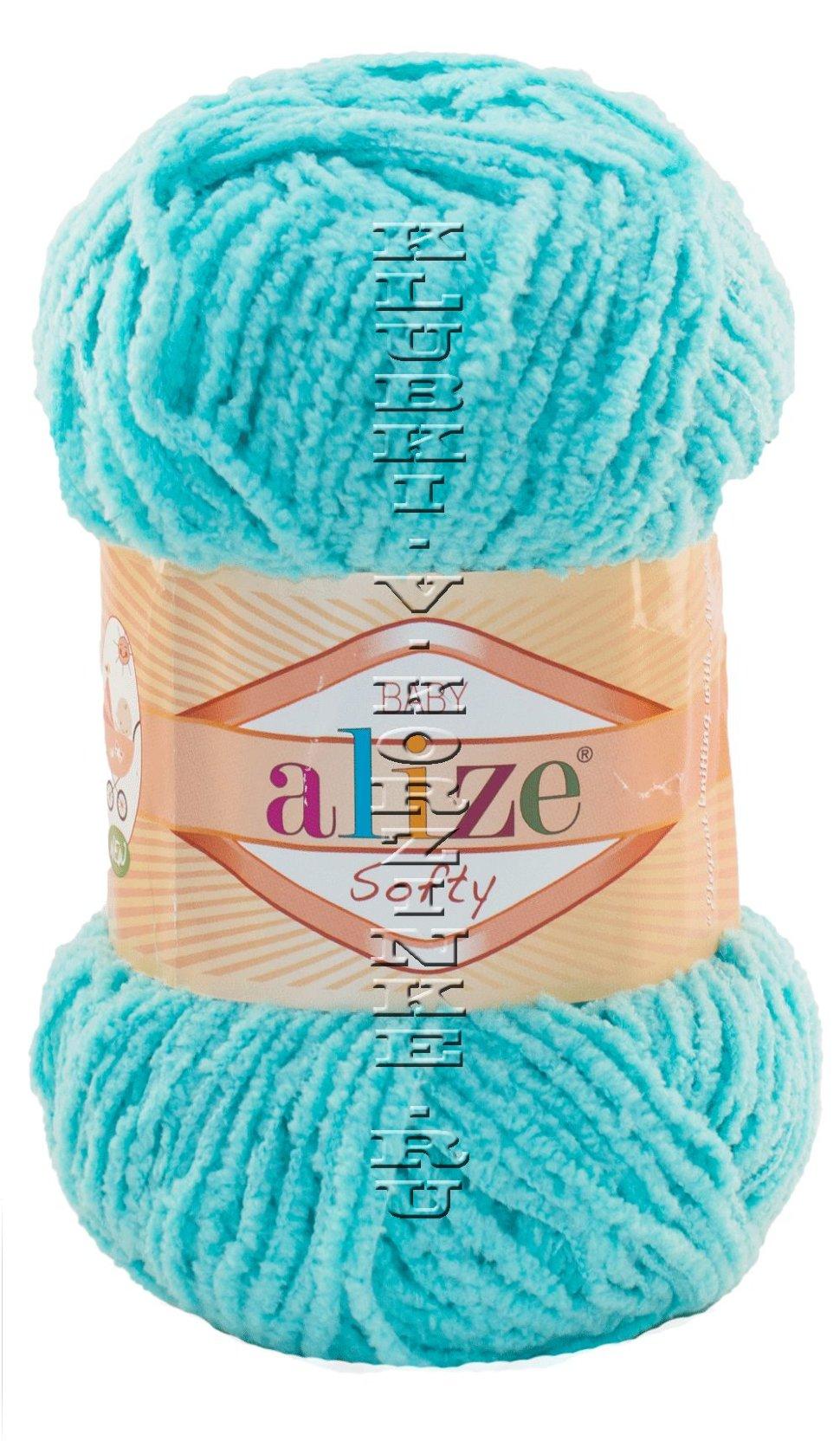 Бирюзовые нитки для вязания