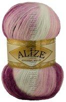 Пряжа ANGORA GOLD BATIK Alize - (2630 - Розовый, фиолетовый, синий)
