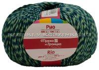 Пряжа Троицкая «Рио» - (3189 - Меланж, сине-зеленый)