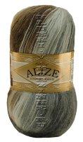 Пряжа ANGORA GOLD BATIK Alize - (5742 - Белый, серый, коричневый)