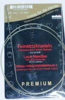 Спицы круговые ADDI №1,5 с удлиненным кончиком никелированные, для тонкой пряжи 100 см
