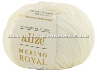 Пряжа Merino Royal Alize - (62 - Молочный)