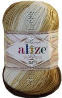 Пряжа Superlana Klasik Batik Alize - (4263 - Беж, коричневый, т.серый)