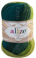 Пряжа Superlana Klasik Batik Alize - (4840 - Изумрудный, зеленый, хаки)