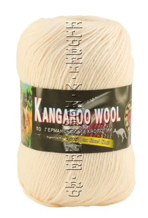 Пряжа «Kangaroo Wool» Color City - (111 - Экрю) 95% шерсть (меринос), 5% кенгуру