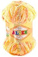 Пряжа Softy Alize - (51625 - Желтый, розовый)