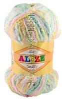 Пряжа Softy Alize - (51300 - Розовый, бирюзовый)