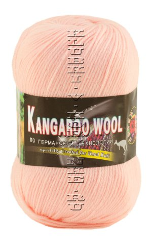 Пряжа «Kangaroo Wool» Color City - (271 - Св.персик) 95% шерсть (меринос), 5% кенгуру