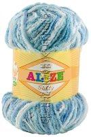 Пряжа Softy Alize - (51305 - Голубой, бирюзовый)