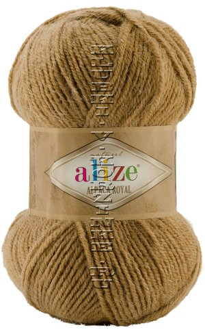 Пряжа Alpaca Royal Alize - (466 - Верблюжий меланж) 100 г / 250 м30% альпака, 15% шерсть, 55% акрил