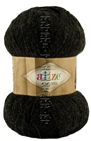 Пряжа Alpaca Royal Alize - (151 - Антрацит) 100 г / 250 м30% альпака, 15% шерсть, 55% акрил