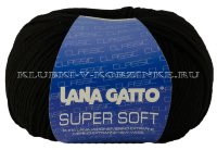 Пряжа Super Soft Lana Gatto - (10008 - Черный)