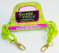 Ручки для сумок, зеленый пластик, 35,6 см