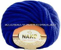 Пряжа Pure Wool Plus Nako - (5329 - Василёк)