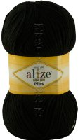 Пряжа Cotton Gold Plus Alize - (60 - Черный)