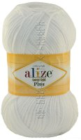 Пряжа Cotton Gold Plus Alize - (55 - Белый)