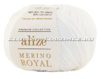Пряжа Merino Royal Alize - (55 - Белый)
