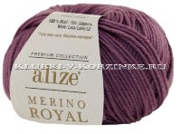 Пряжа Merino Royal Alize - (73 - Сухая роза)
