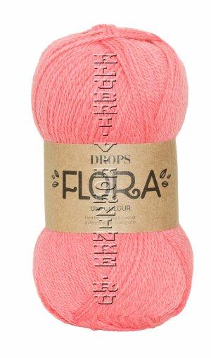 Пряжа Flora DROPS - (19 - Коралл)           - купить в интернет-магазине товаров для вязания «Клубки в корзинке»