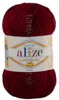 Пряжа Cotton Baby Soft Alize - (57 - Бордовый)