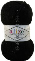Пряжа Angora Gold Star Alize - (60 - Черный)