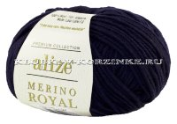 Пряжа Merino Royal Alize - (58 - Темно-синий)