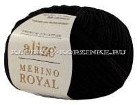 Пряжа Merino Royal Alize - (60 - Черный)