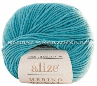 Пряжа Merino Royal Alize - (462 - Лазурный)