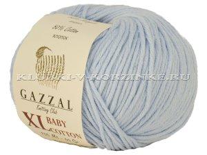Пряжа GAZZAL (Газзал) Baby Cotton XL - (3429XL - Бледно-голубой)           - купить в интернет-магазине товаров для вязания «Клубки в корзинке»