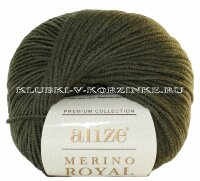 Пряжа Merino Royal Alize - (284 - Хаки)