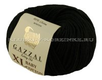 Пряжа GAZZAL (Газзал) Baby Cotton XL - (3433XL - Черный)