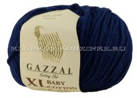 Пряжа GAZZAL (Газзал) Baby Cotton XL - (3438XL - Т.синий)