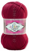 Пряжа SUPERWASH Alize - (57 - Бордовый)